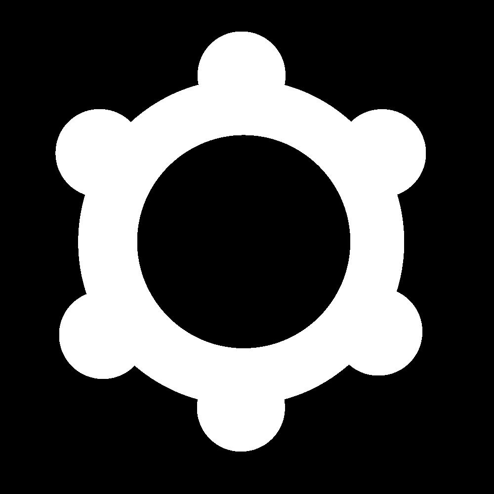 Custom background icon - cog icon